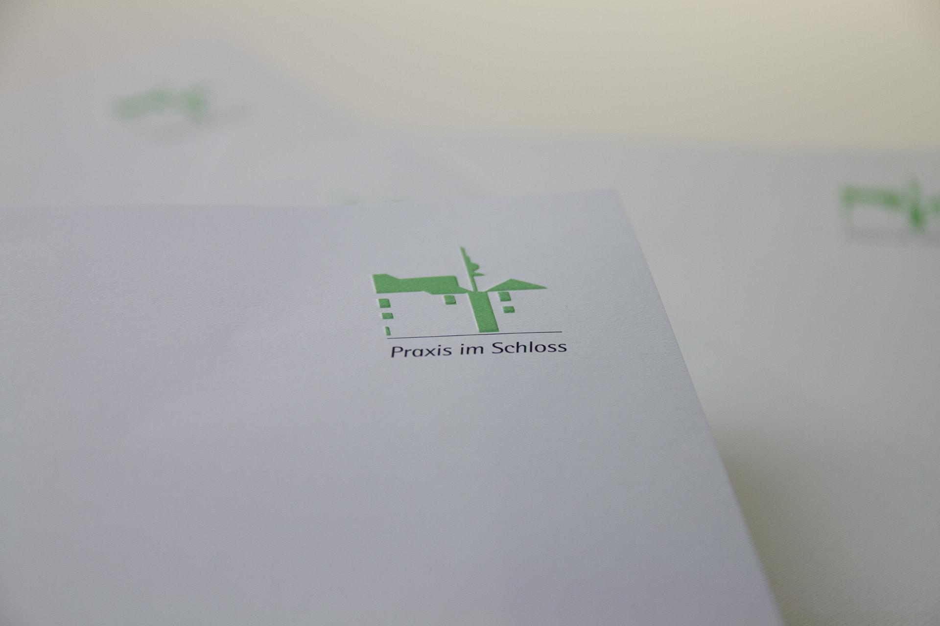 Briefpapier für die Zahnarzt-Praxis im Schloss in Schrozberg