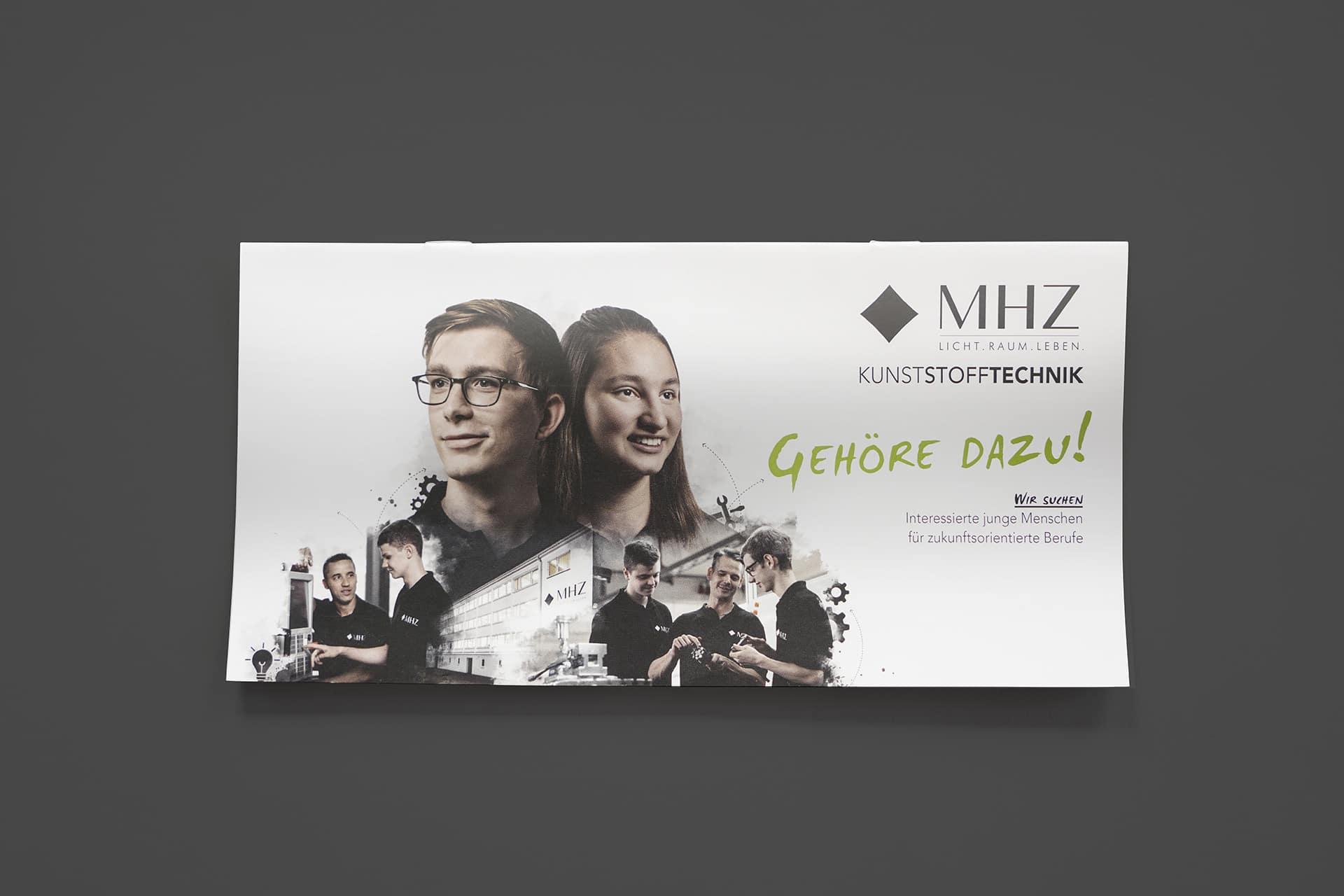 Ausbildungsflyer für die MHZ in Niederstetten