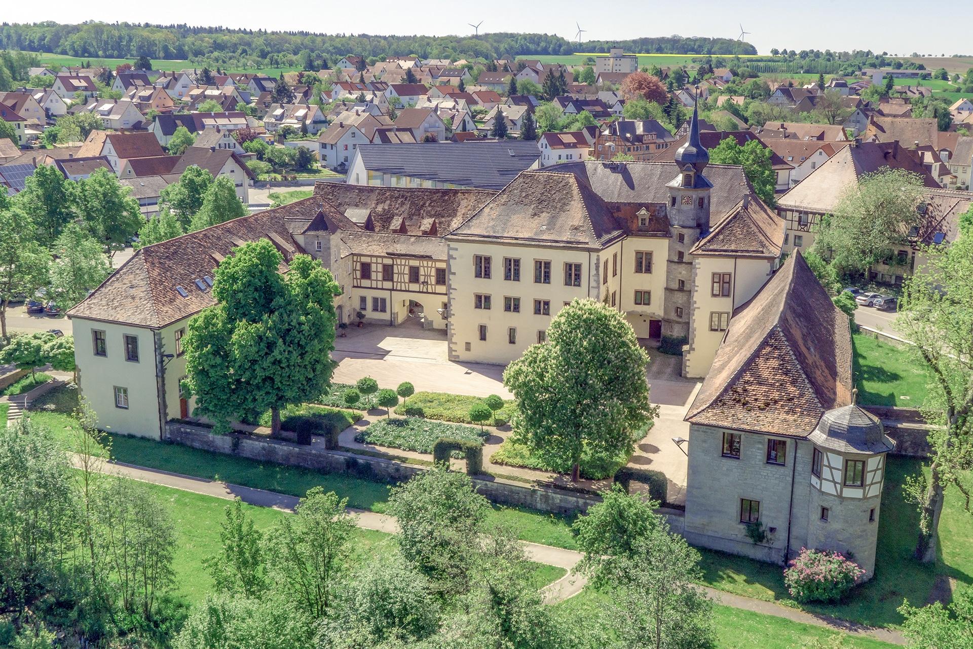 Schloss Schrozberg von oben fotografiert