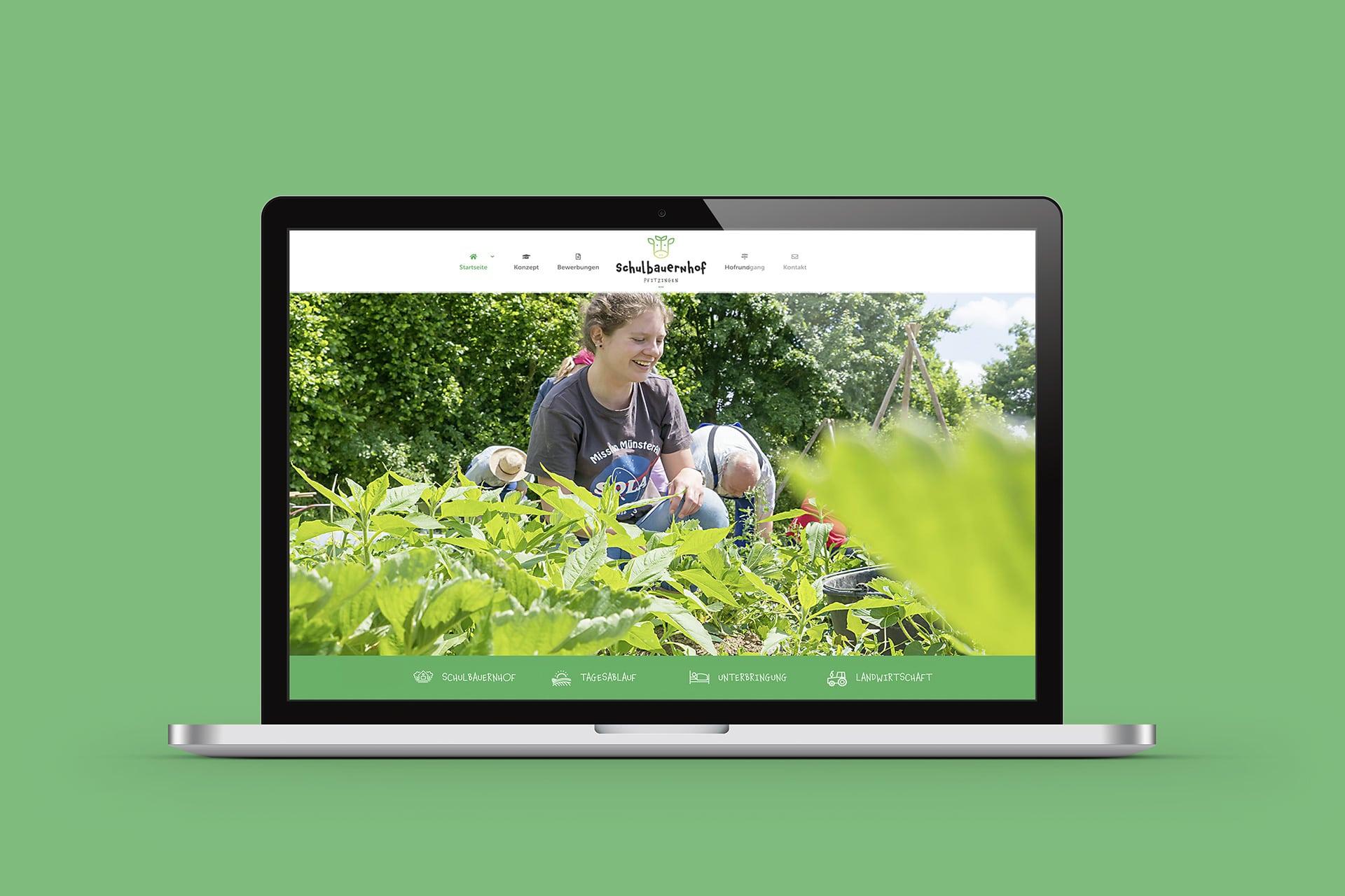 Website Redesign Schulbauernhof Pfitzingen