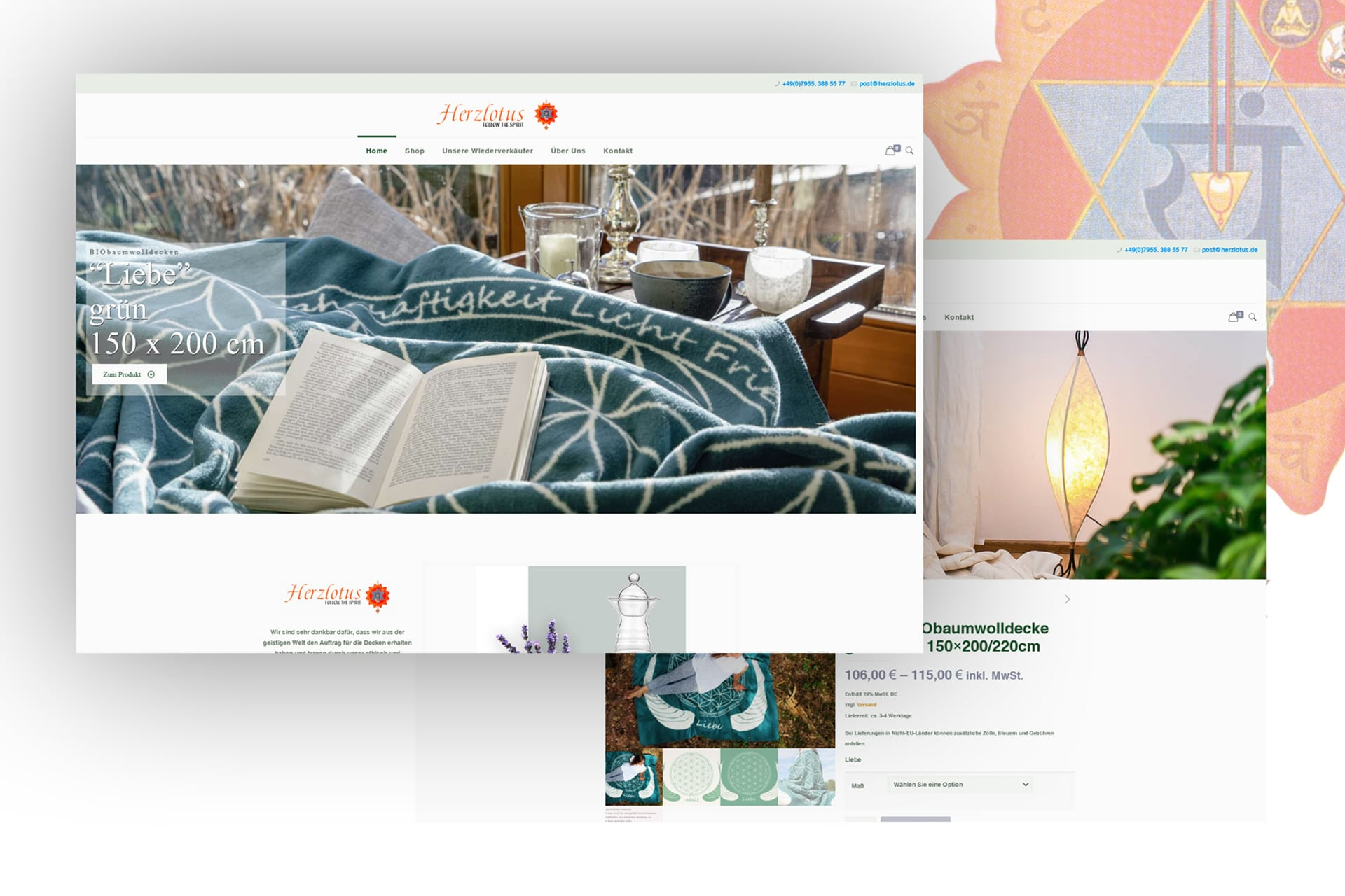 Internetseite von Herzlotus in Wallhausen