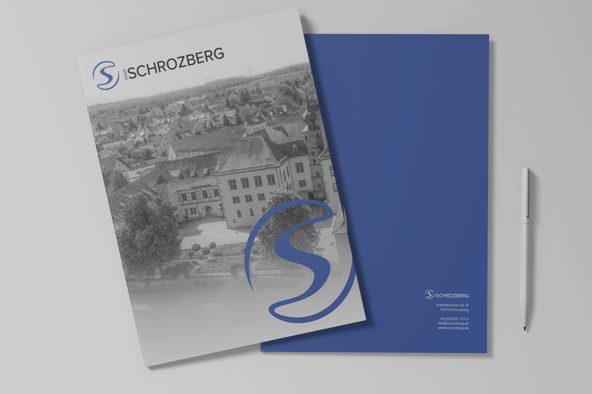 Präsentationsmappen der Stadt Schrozberg