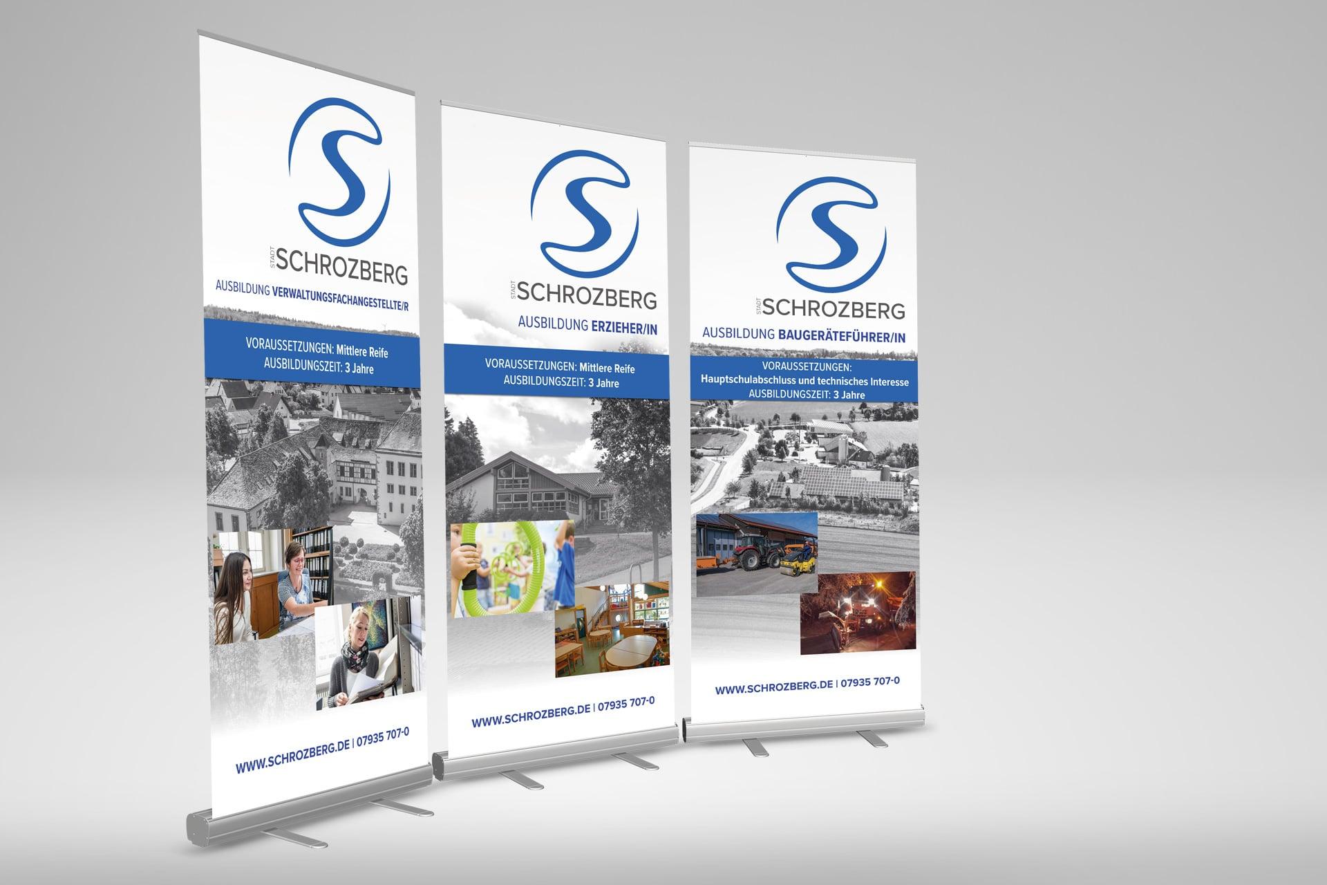 Ausbildungs-Rollup für die Stadt Schrozberg