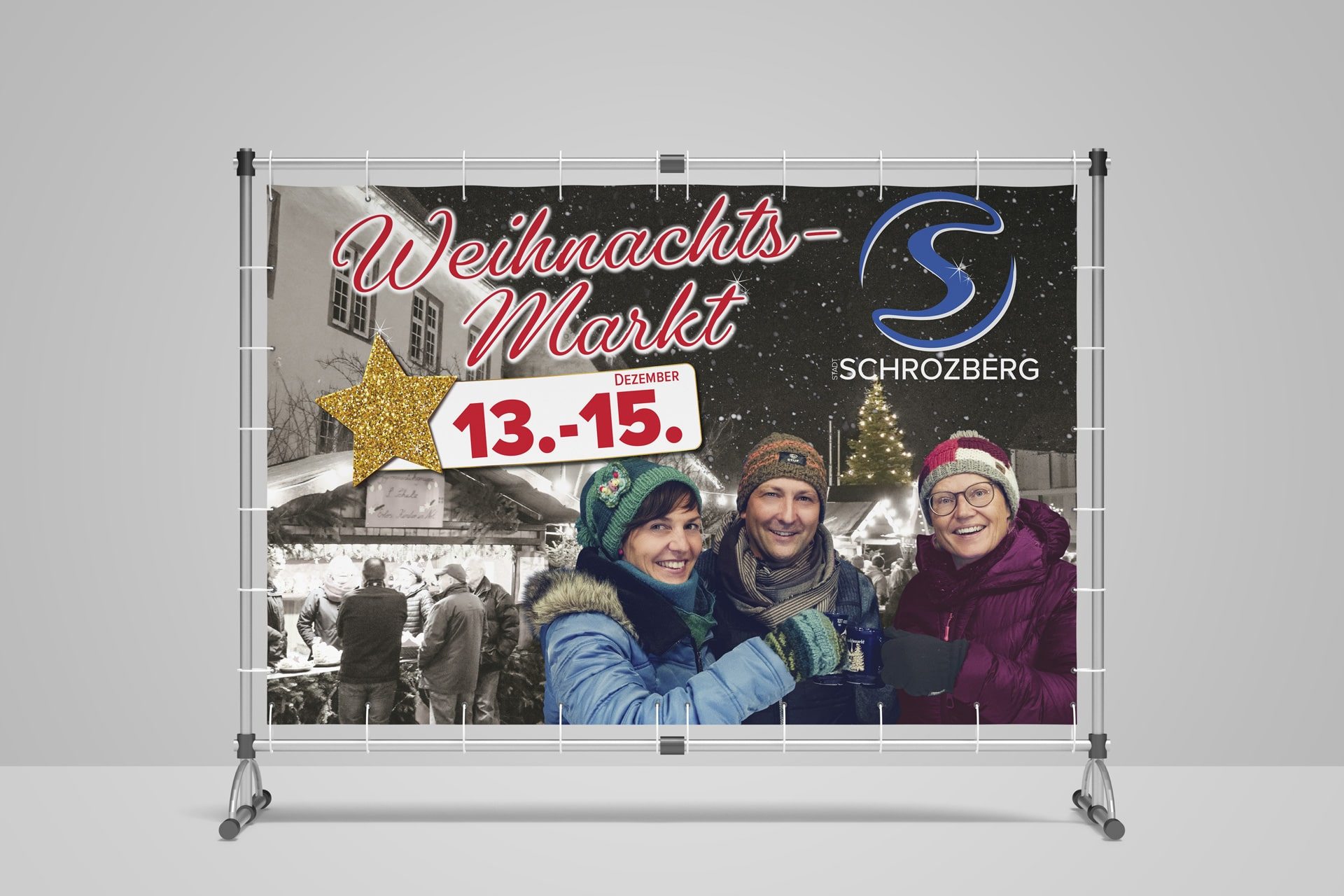 Weihnachtsmarkt Banner der Stadt Schrozberg