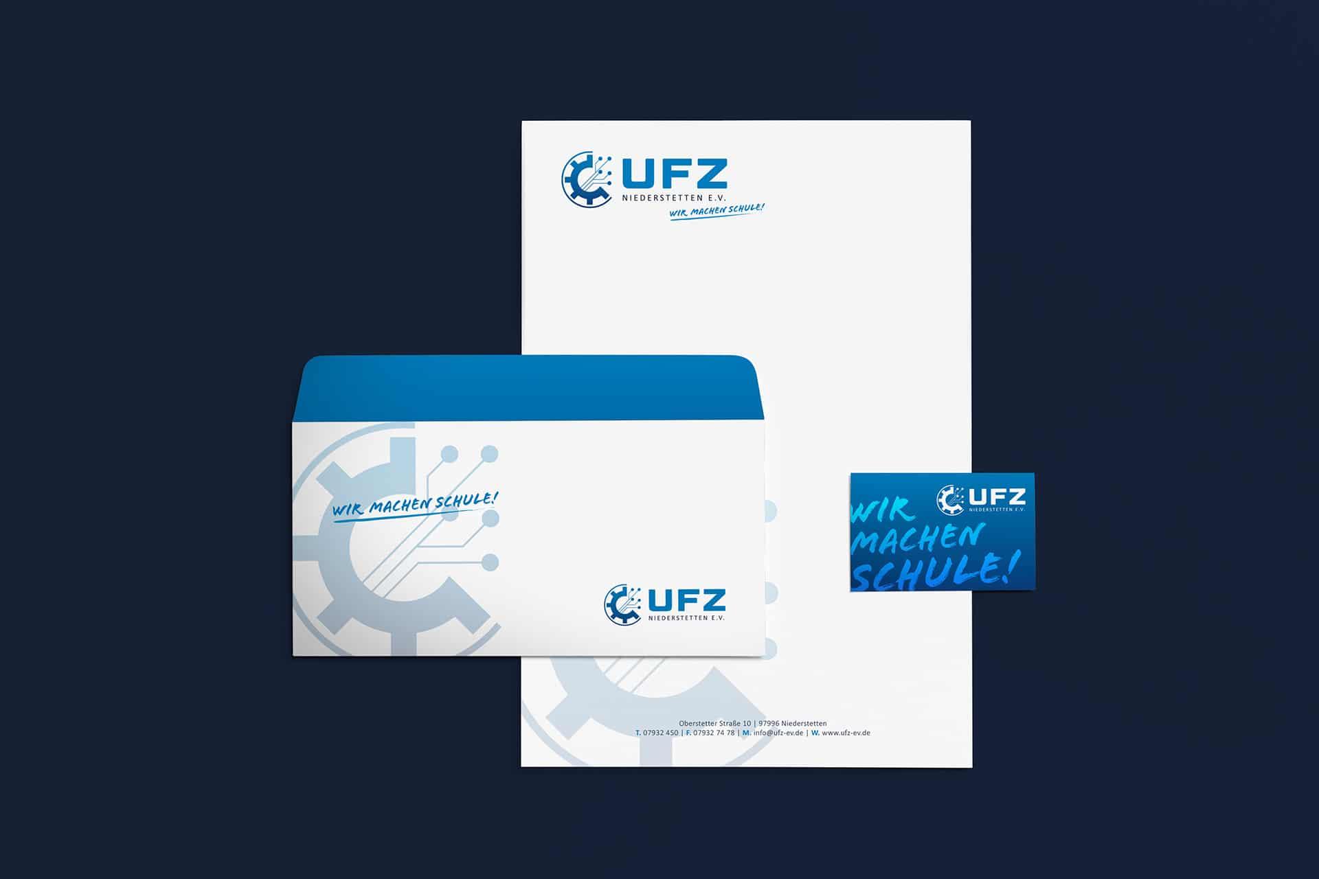 Geschäftsausstattung für das UFZ Schulungszentrum in Niederstetten