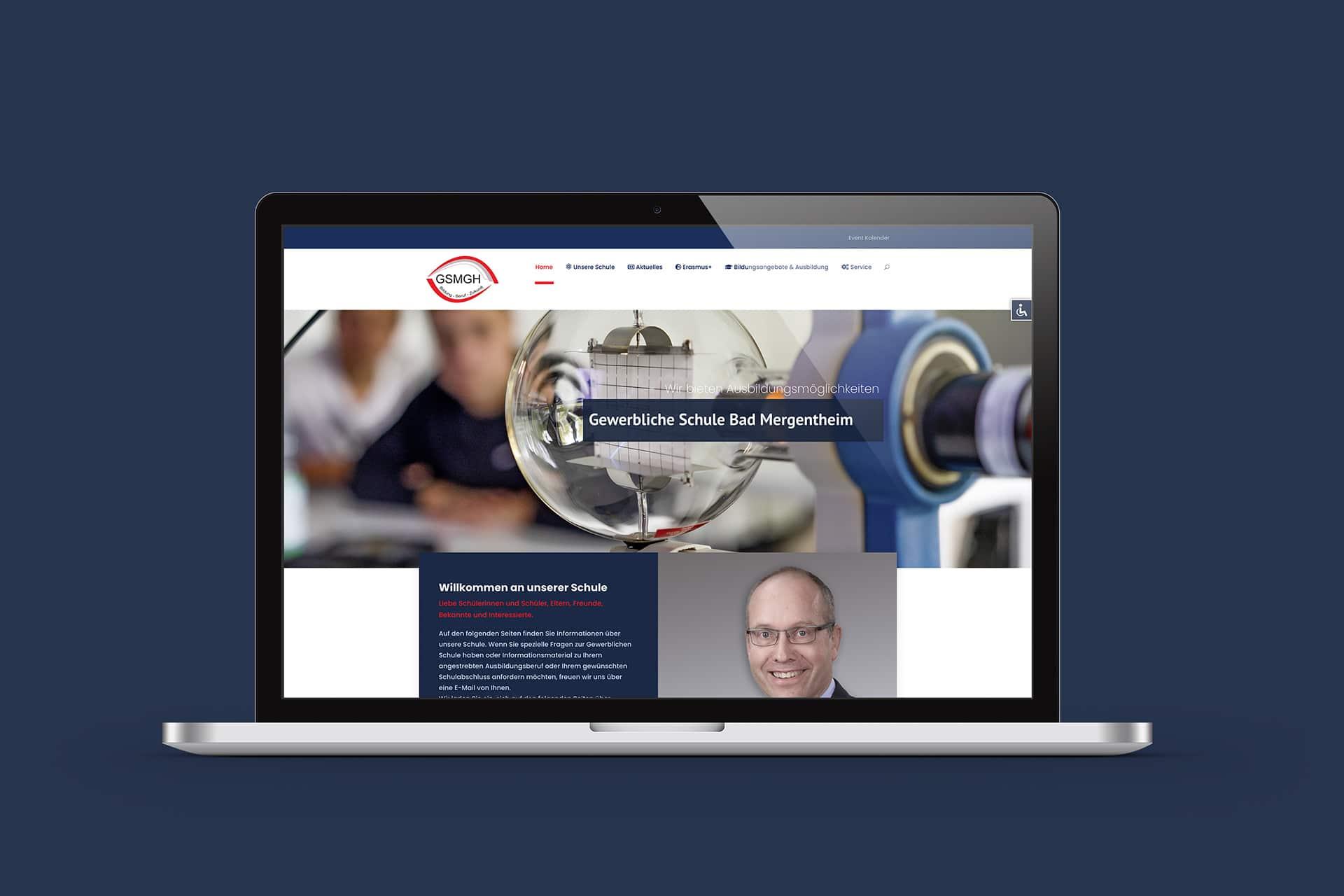 Website Redesign Gewerbliche Schule Bad Mergentheim