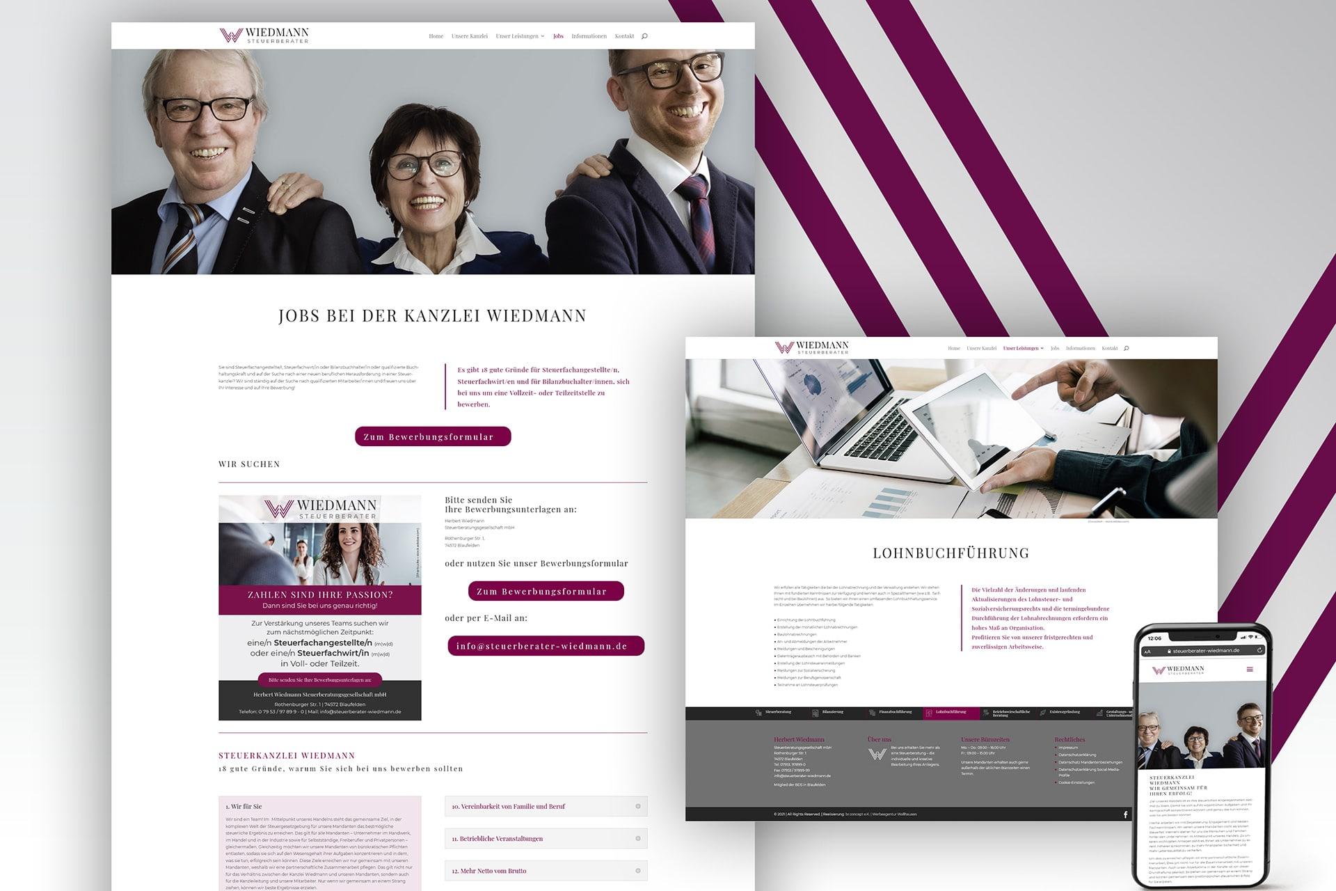 Website Redesign Steuerberater Wiedmann Blaufelden